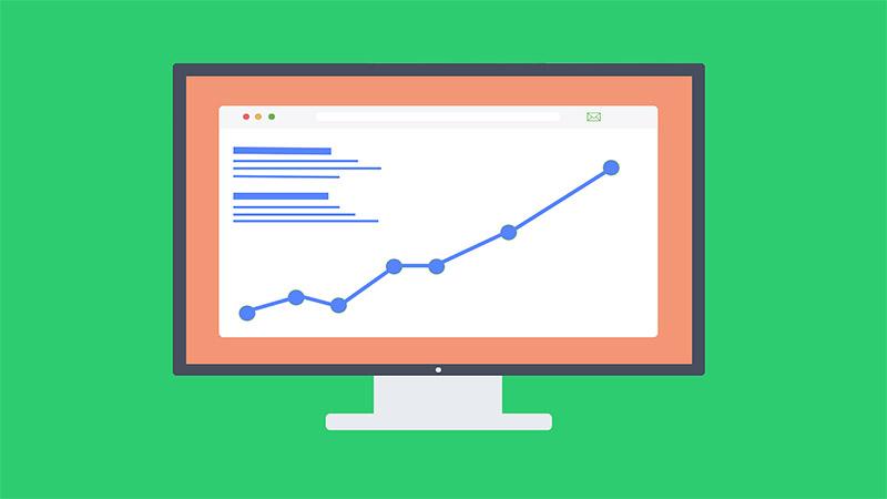 courbe de croissance analytics, trafic web SEO